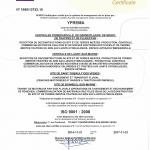 ISO 9001 certificat 2014